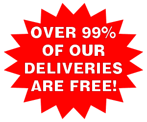 99% of our deliveries are FREE!